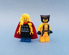Marvel Yellowheads (Jeklarr) Tags: lego marvel thor wolverine custom figs minifigs purist