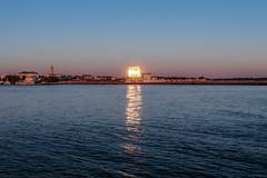 Neptun in Flammen (*AdeCo*) Tags: rostock warnemünde hotelneptun warnow ostsee ocean meer haus spiegelung fluss river reflection sonnenaufgang sunrise blau blue bluehour blauestunde home windows fenster g7xm2 g7xii