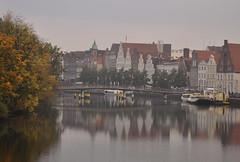 Germany - Lübeck - Trave (Harshil.Shah) Tags: lübeck lubeck luebeck germany deutschland trave altstadt city river centre reflection unesco world heritage site worldheritagesite schleswig holstein