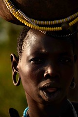 Mursi Woman (Rod Waddington) Tags: africa african afrique afrika äthiopien ethiopia ethiopian ethnic etiopia ethnicity ethiopie etiopian omovalley outdoor omo omoriver outdoors mursi tribe traditional tribal woman calabash beads portrait people culture cultural