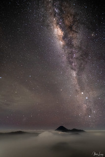 Mount Bromo milky way