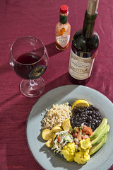 Black Beans, avocado, cauliflower, rice and squash (All About Light!) Tags: wine winereview foodpairing food foodie sf photographer arthurkochphotography