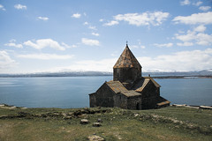 Sevanavank (wesolt) Tags: armenia lake sevan monastery ladnscape temple church cathedral sky architecture