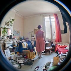 Autoportrait Anniversaire 30 (topupthetea) Tags: autoportrait selfportrait self portrait anniversaire birthday 30 fisheye mess