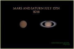 Mars and Saturn (OPMmmGroup) Tags: sun moon galaxy galaxies telescope reflector refractor newtonian dobsonian eq mount goto celestron vx solar system nebula star stars cluster globular astronomy astroimaging astrophotography planets planet deep space mars jupiter saturn mercury neptune pluto uranus canon 70d tiffendfx