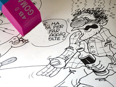 OMAGGIO AL MIO AMICO MARIANO. (FRANCO600D) Tags: erasers hmm macromondays vignetta caricatura schizzo goliardia ubriaco marianozian gommadacancellare gommapercancellare macro gomma colore cancellazione canon eos6dmarkii franco600d 1183 53 26
