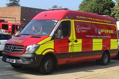 LJ15 TWF (JKEmergencyPics) Tags: surrey fire rescue service sfrs mercedes benz mb sprinter epu environmental protection unit environment agency dorking station reigate headquarters hq open day 2018 lj15 twf lj15twf fno 806 fno806