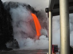 close to the action (BarryFackler) Tags: lava magma lavabombs nature heat energy hawaii hawaiivolcanoesnationalpark polynesia outdoor water pacificocean ocean sea pacific saltwater 2017 firehose lavaoceantours lavaone explosion eruption tropical hawaiiisland bigisland marine boat shore coast lavaboat tourboat nautical island aquatic adventure danger vessel catamaran motorvessel hawaiicounty hawaiianislands vehicle barronfackler barryfackler marineecology cellphone spectacle spectacular kamokuna 61glavaflow kamokunalavaflow coastline shoreline volcanology incadescent vog clouds laze nationalparkservice kilauea nps nationalpark puna lowereastriftzone lerz coastal littoral