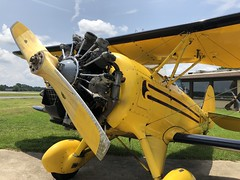 Biplane over Atlanta (Michael Casey) Tags: biplane propeller waco