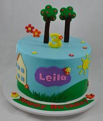 Peppa pig themed birthday cake (jennywenny) Tags: peppa pig blue birthday