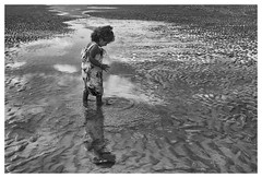 Playing In A Pool Of Water (Kam Sanghera) Tags: canon eos 5d mark iii ef24105mm f4l is usm ef 24105mm 24 105 mm f4 l dymchurch beach kent nik silver efex