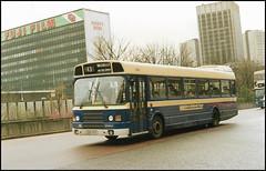 1040 (DOC 40V) ((Stop) The Clocks) Tags: 1040 birmingham doc40v wmpte westmidlandstravel leylandnational2 leylandnational leyland birmingham1980s