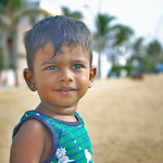 Smiling Indian baby boy on Beach thumbnail