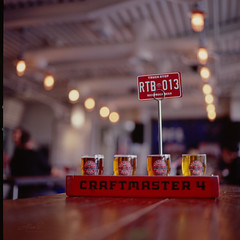 Beer and Bokeh - Film Hasselblad (Photo Alan) Tags: vancouver canada redtruck beer food drink bokeh film filmcamera filmscan film120 hasselblad hasselblad503cw carlzeiss carl zeiss planar 80mmf28 cfe, carlzeissplanar80mmf28cfe light