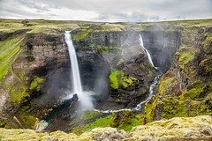 Haifoss and Granni (Einar Schioth) Tags: haifoss granni fossargil fossárgil water waterfall sky summer day grass canon clouds cloud cliff canyon nationalgeographic ngc nature landscape photo picture outdoor iceland ísland einarschioth