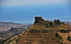 """""""It is easier to go down a hill than up, but the view is from the top"""". Arnold Bennett (♪ fotodisignorina ♪ Felicia Violi PHOTOGRAPHY) Tags: calabria aspromonte bovamarina bova pentedattilo sea blue green sky chora grecanico etna feliciavioliphotography"""