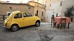 Made in Italy (paolotrapella) Tags: madeinitaly fiat 500 classic italy yellow atmosfera