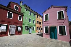 Colorful Square (Luca Bobbiesi) Tags: burano building architecture piazza colori colors perspective veneto venice canoneos7d canonefs1022mmf3545usm