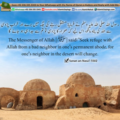 Seek-refuge-with-Allah-from-a-bad-neighbor-in-ones-permanent-abode (aamirnehal) Tags: quran hadees hadith seerat prophet jesus moses book aamir nehal love peace quotes allah muhammad islam zakat hajj flower gift sin virtue punish punishment teaching brotherhood parents respect equality knowledge verse day judgement muslim majah dawud iman deen about son daughter brother sister hadithabout quranabout islamabout riba toheed namaz roza islamic sayings dua supplications invoke tooba forgive forgiveness mother father pray prayer tableegh jihad recite scholar bukhari tirmadhi