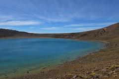 Lake on the Mountain (Sam-Henri) Tags: newzealand taupo tongariro alpine crossing northisland lake mountain blue sky cloud travel landscape beginner sony rx100 mkii mk2