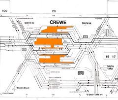 Euston - Carlisle 14 1975 Crewe (twilight bear) Tags: track diagram crewe 1975