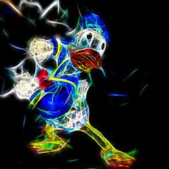 (johnsinclair8888) Tags: donaldduck disneyland topaz affinityphoto neon johndavis crystal sliderssunday