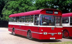 CYA 181J with Chiltern Queens. (Renown) Tags: bus singledecker aec reliance 505 ah505 plaxton derwent chilternqueens knottybus woodcote garage oxfordshire cya181j