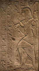 El generalísimo Horemheb adorando al dios-sol Ra (Fernando Two Two) Tags: faraon horemheb egypt egipto egipcio caliza tomb tumba relieve arqueologia archelogy ra xviiidinasty britishmuseum ancient archeology