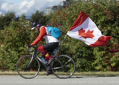 Great Day To Be A Canuck_0373 (Mike Head -Jetwashphotos) Tags: canadaday canuck canadian canadien rider bike theflag canadianflag richmond bc britishcolumbia canada westerncanada westernregion summer warm pleasant
