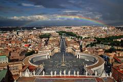 Rainbow over Rome (PJ Swan) Tags: rome roma italia italy vaticano vatican city rainbow cityscape