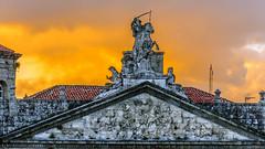 Saint James / Santiago (López Pablo) Tags: statue santiago compostela galicia spain red sunset cloud wayofsaintjames nikon d7200