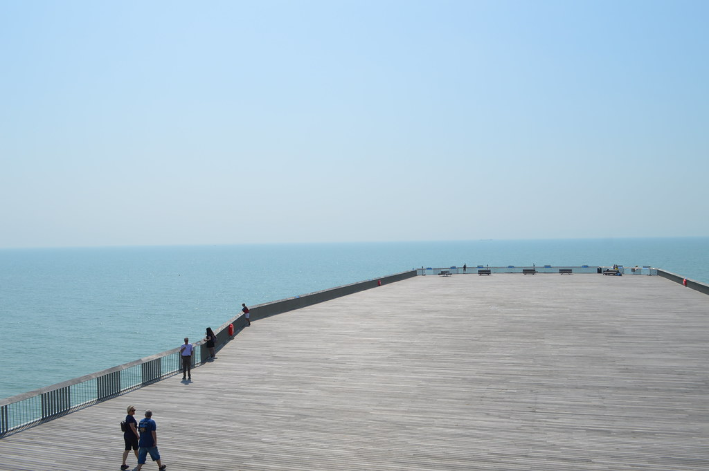 The empty Hastings Pier