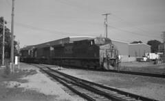 Local In Hanover (DJ Witty) Tags: photography train railroad rr film kodakmedalist bw blackwhite 620film dieselelectriclocomotive ge gevo hanoversub csx csxt hanover pennsylvania usa