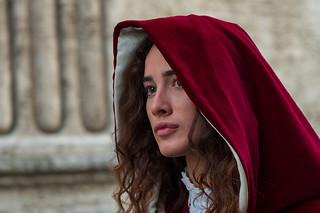 Ascoli Piceno: Giostra della Quintana, giovane figurante (2018)