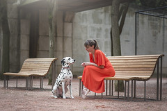 (dimitryroulland) Tags: nikon d600 85mm 18 dimitryroulland performer art artist ballet ballerina dance dancer dog dalmatian paris france garden nature bench natural light