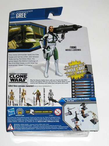 commander gree cw21 star wars the clone wars blue black card