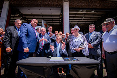 Governor Baker Signs Bill Improving Firefighter Health Care Access 07.24.18 (Office of Governor Baker) Tags: lynn firefighters h2515 anactrelativetodiabilitybenefits cancer firefightersbill gov charlie baker billsigning clapping