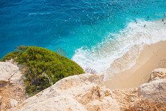 Kaputas Beach (madrishou) Tags: antalya turkey kas kaputas beach clear water cliff