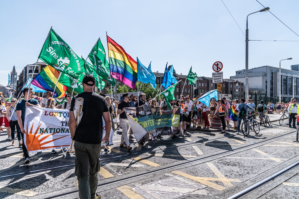 ABOUT SIXTY THOUSAND TOOK PART IN THE DUBLIN LGBTI+ PARADE TODAY[ SATURDAY 30 JUNE 2018] X-100087