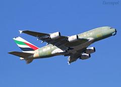 F-WWSY Airbus A380 Emirates (@Eurospot) Tags: fwwsy a6evf airbus a380 emirates toulouse blagnac