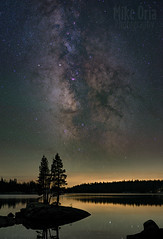 Lake Alpine (mikeSF_) Tags: california lake alpine lakealpine ebbetts pass highway 4 sonora bear bearvalley mountain mountains trees granite reflection stars star astrophotography astro 645z 645 dfa55 55mm stack night longexposure