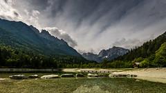 Lake Jasna with Julian Alps (hjuengst) Tags: lake see lakejasna kranjskagora julischealpen julianalps triglavnationalpark slowenien slovenia clouds wolken