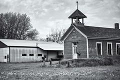 Fall Creek - Dells Mill - Dells School (ImNotDedYet) Tags: schoolhouse singleroomschoolhouse dellsmill dellsschool wisconsin augusta fallcreek americana