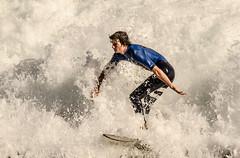 Bring It On (Santa Cruz Pictographer) Tags: surf surfer surfing surfboard board sports sport water ocean sea california coast coastal beach shore wave waves foam splash drops droplets focus contrast wet wetsuit skill crush