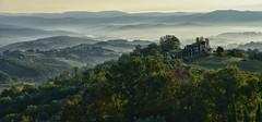 Early morning - from Chiusdino (Mr_Pudd) Tags: poplars poplar grass tuscany mountains mountain trees tree italy martintidbury mist fog lowcloud sunrise chiusdino nikond750 nikon