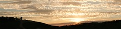 Bradgate Park Sunset Panorama (ianderry64) Tags: follow like visit blog affinityphoto composite stitched hill gold red cloud castle folly view vista landscape panoramic panorama sunset park bradgate