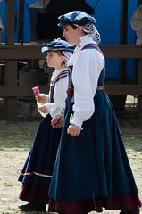 RenFaire Girls Walking (Kevin MG) Tags: renaissancefaire renaissance renfaire faire costumes players actors outdoor village kids children child girl young youth cute pretty little dress adolescent adorable