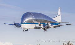 NASA Super Guppy GS (Oscar Zelada Jr) Tags: nasa superguppy aviation space airplane aircraft airport spacelines aero cargo sgt n941na b377 moffett field