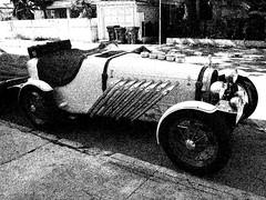 Key West Roadster (Thad Zajdowicz) Tags: roadster automobile keywest florida usa transportation zajdowicz cellphone street availablelight sketch car road pipes wheels