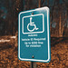 Disability Parking Sign (Accessible - Handicap Spot)